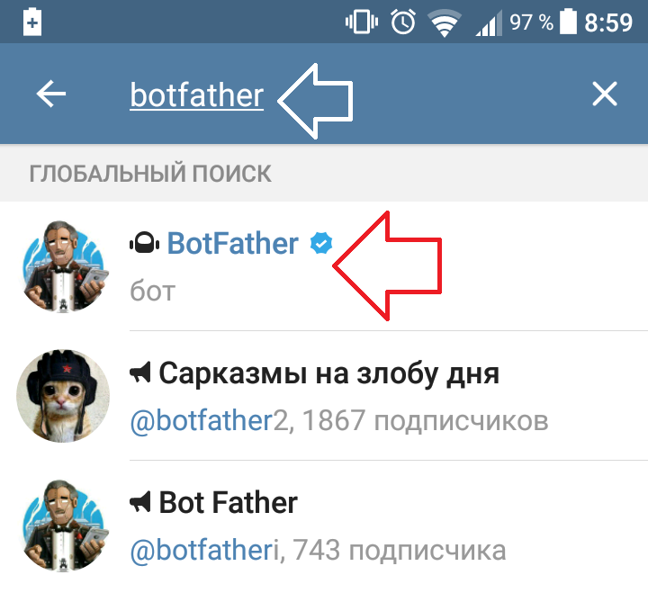 Botfather telegram