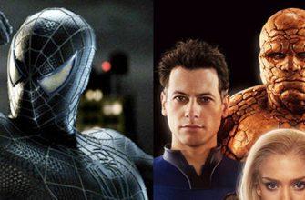 Человек-паук Тоби Магуайера встретился с Фантастической четверкой на этом кадре